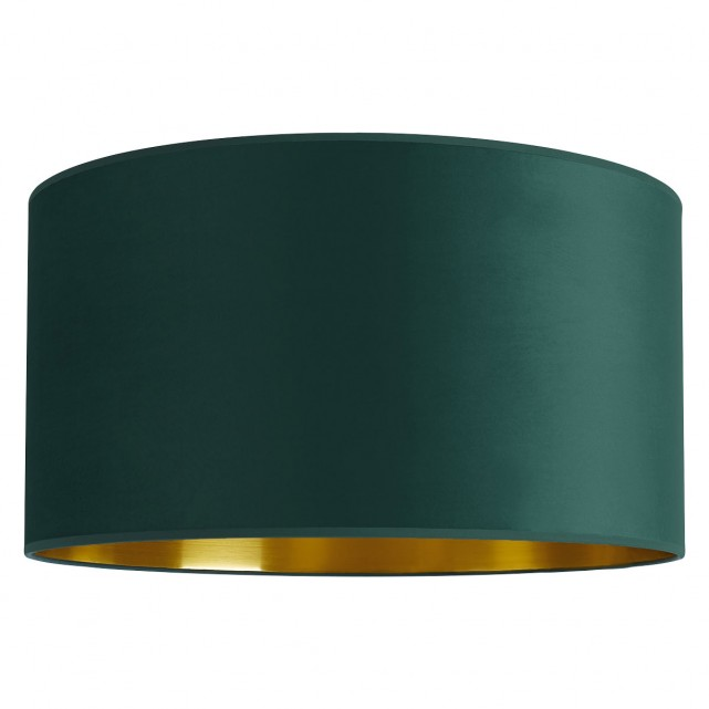 The Tambor Large Emerald Velvet Gold Lined Lampshade Combines A Soft Velvet Exterior With A Metallic Interior Giv Green Lamp Shade Gold Line Bar Set Furniture