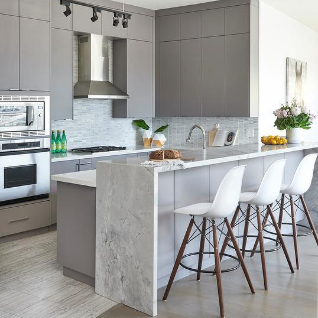 Super White Quartzite - Everything You Need to Know #waterfallcountertop