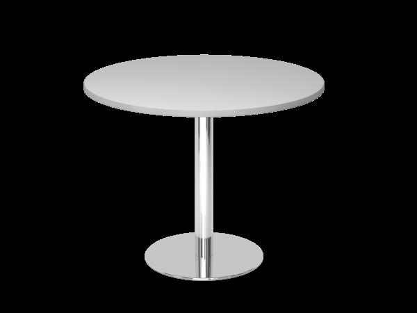 Runder Besprechungstisch Stf10 100cm Grau Gestell Chrom Tischplatte Rund Tisch Esstisch Design