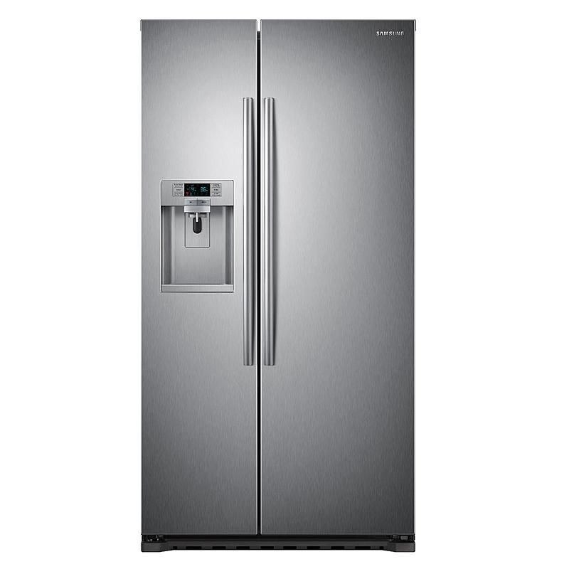 Samsung 22 cu. ft. Counter Depth Side-by-Side Refrigerator - Stainless Steel : null
