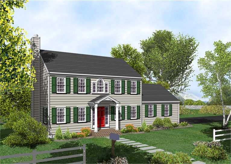 Build A Covered For Porch Colonial House Plan The Posey 317