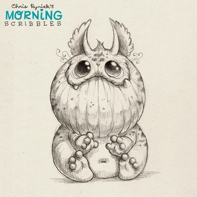 Keep an eye on your cookies, this critter is grabby. #morningscribbles