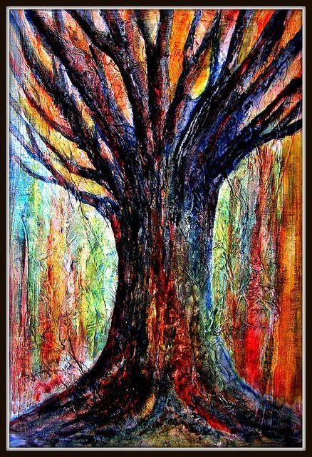 Textured Tree Painting Techniques Art Art Techniques Art