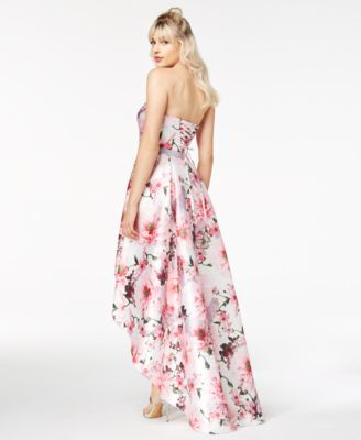 0d1a0f5c528 City Studios Juniors  Floral-Print High-Low Gown