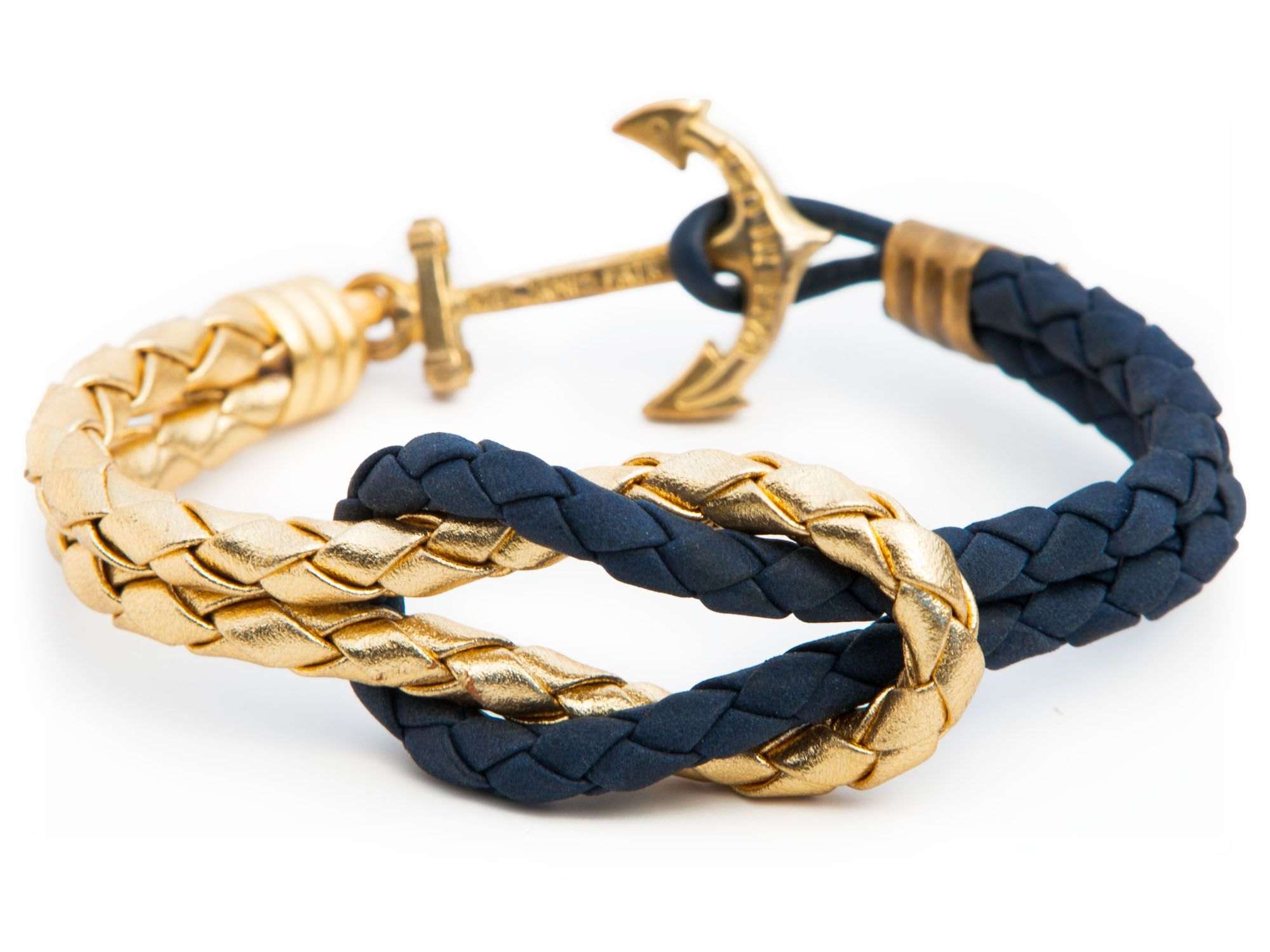 0c4514df842 Gold Navy - Kiel James Patrick Anchor Bracelet Made in the USA
