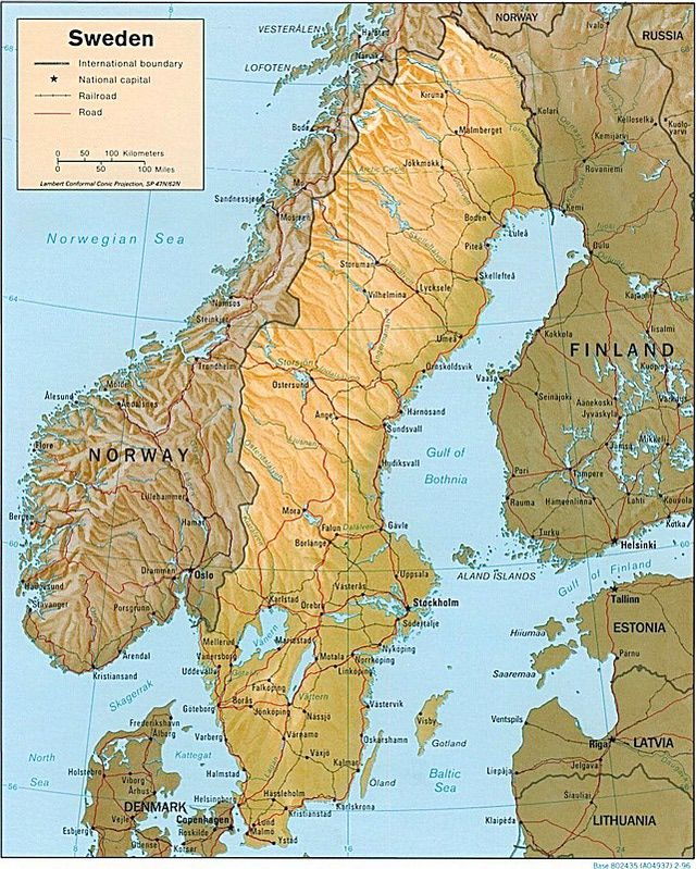 Maps of Scandinavia