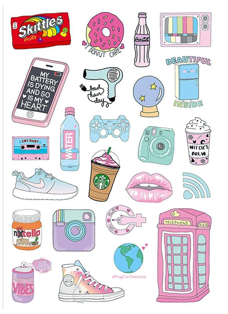 Latest Funny Cute 24pcs, Cute Stickers, Laptop Sticker, Suitcase Sticker, Skateboard Stickers, Decorative Sticker, Gift Packaging 24pcs Cute Stickers Laptop Sticker Suitcase Sticker | Etsy 1