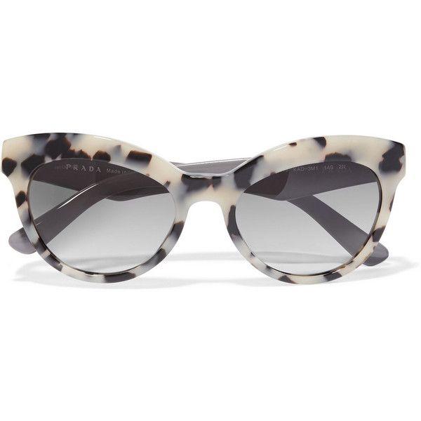 f418933b690 Prada Cat-eye acetate sunglasses ( 180) found on Polyvore featuring women s  fashion