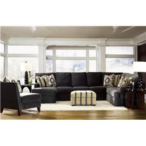Maclin K91500 Sectional Sofa With Left Side Chaise By Klaussner Comp Furniture New Orleans Metairie Kenner Louisiana