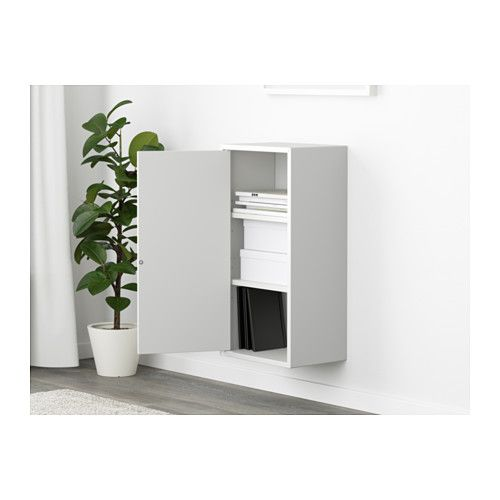 eket cabinet with door and 2 shelves white salon inspiration cabinet doors tall cabinet. Black Bedroom Furniture Sets. Home Design Ideas