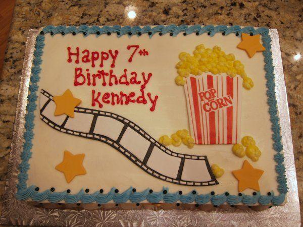 Single Layer Hollywood Themed Cake Cake  Cupcake Inspiration - Movie themed birthday cake
