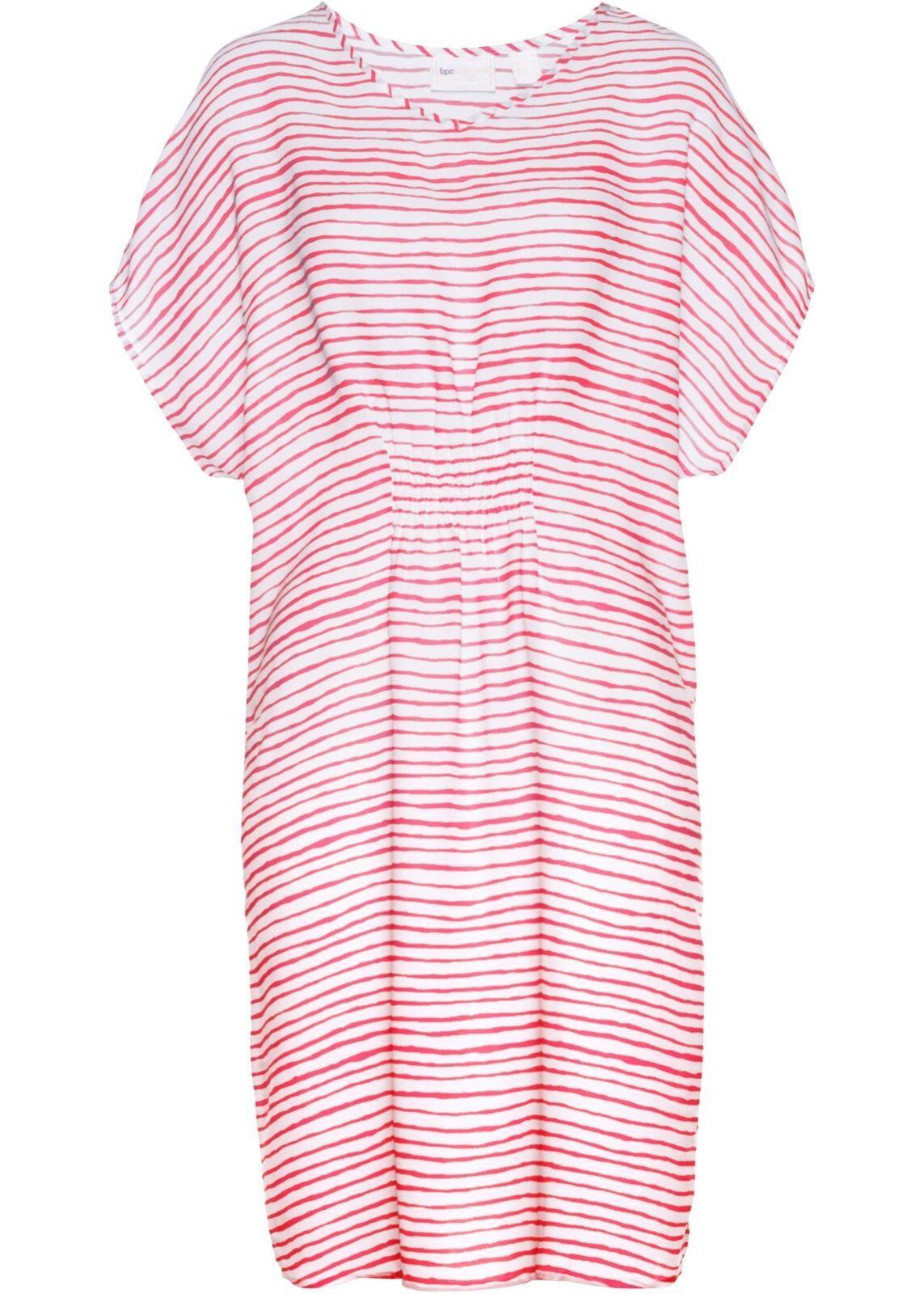 details zu kleid gr. 48 hellpink weiß damen-kleid