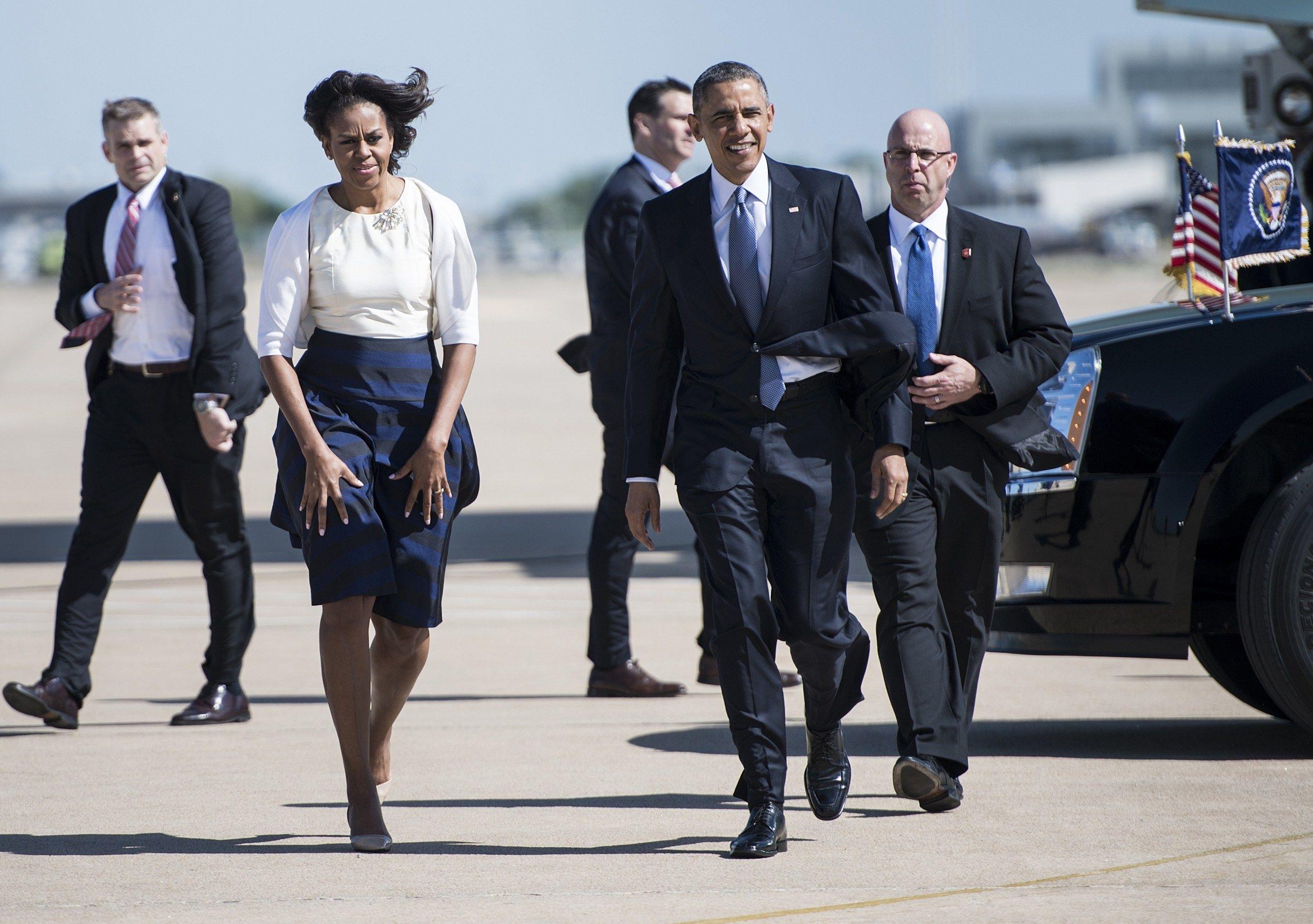 2014: President Obama's new SAIC (right, bald, glasses ...