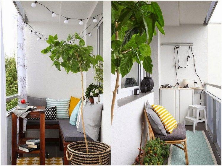 Ecksitzbank auf einem kleinen balkon Wohnung Balkon Pinterest