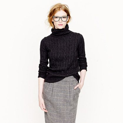 Cambridge cable chunky turtleneck sweater - I loved this J Crew ...