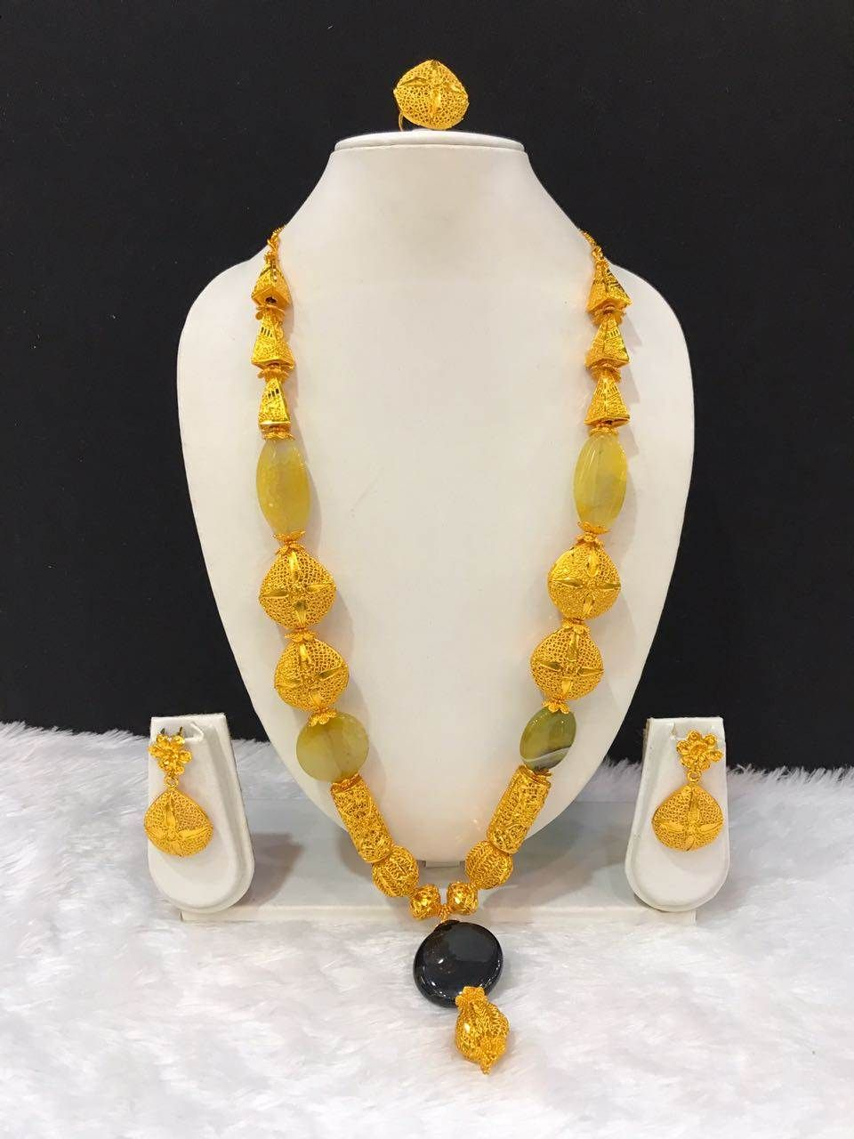 African gold plated necklace set/African gold plated