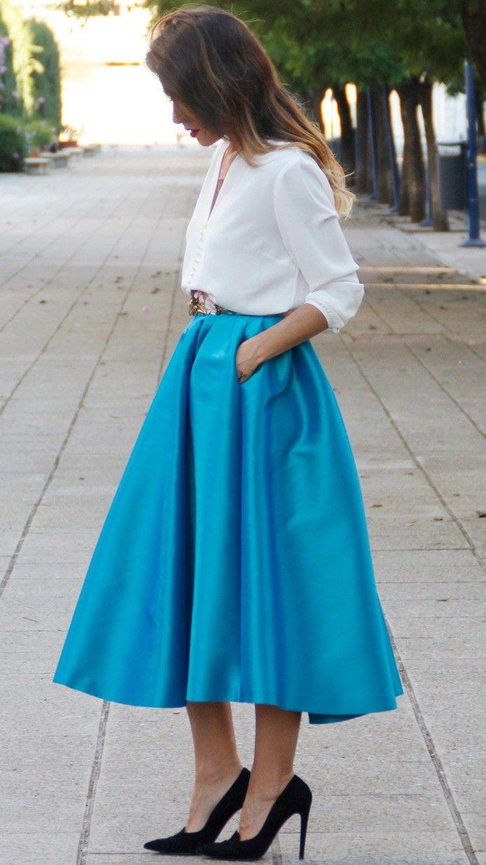 3d61e3ac11 blusa blanca para falda midi Blusa Manga Larga Blanca