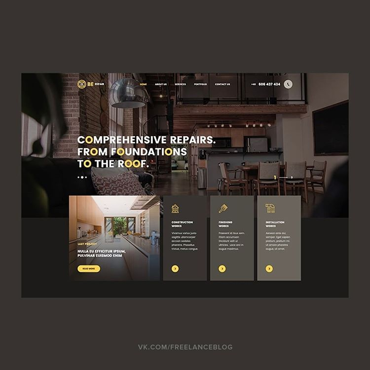Home renovations landing page