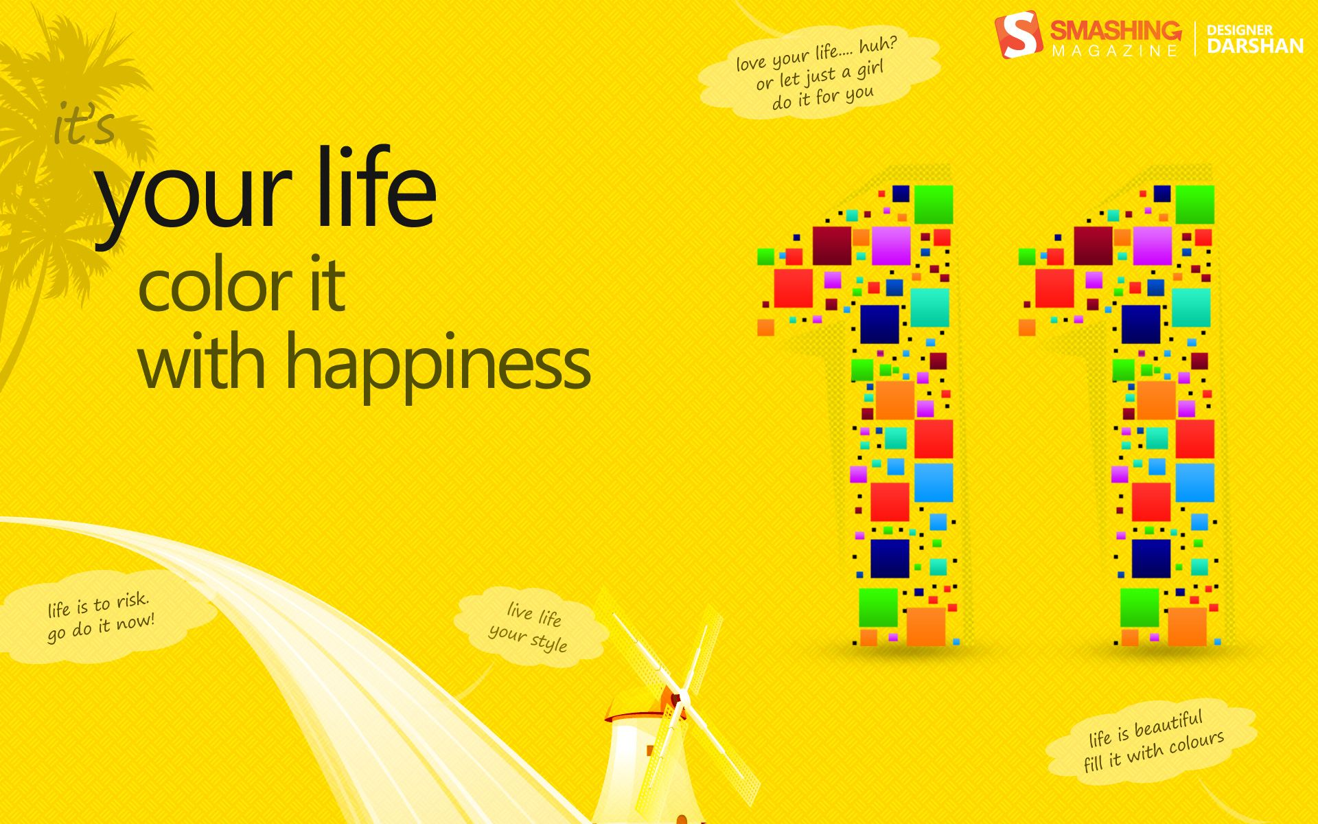 Your Life Color Is With Happiness Wallpaper Happy Quotes Happy Color Of Life
