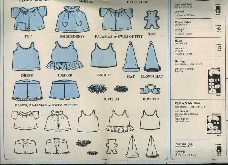 Inventive image in free printable build a bear clothes patterns