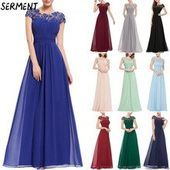 2019 autumn and winter new European and American solid color evening dress long skirt chiffon 2019 autumn and winter new European and American solid color evening dress l...