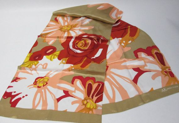 Stunning Anne Klein Long Floral Scarf by AlternatingPatterns