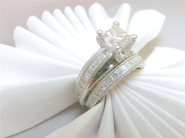 Fake Diamond Napkin Ring Holders Diamond Wedding Rings Sets