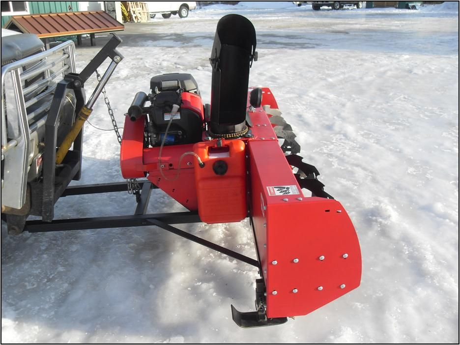 Trucks With Blowers : Big pig truck mounted snowblower snow removal equip