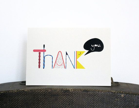 Thank You card by 10antemeridiem on Etsy, $3.50