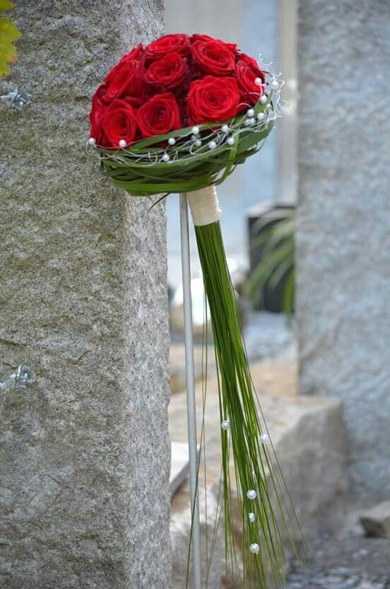 Rote Rosen  bridal bouquet  Blumenstrau hochzeit