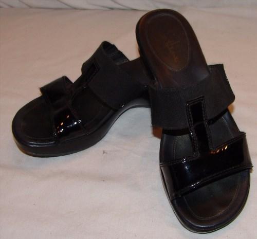 38.43$  Watch here - http://viwpo.justgood.pw/vig/item.php?t=djaihn8935 - Cole Haan Nike Air Black Slip On Sandals Heels 8B 8 B Womens Open Toe
