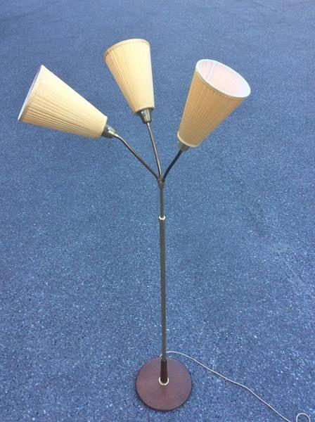 Originale Tüten Stehlampe; 50er Jahre