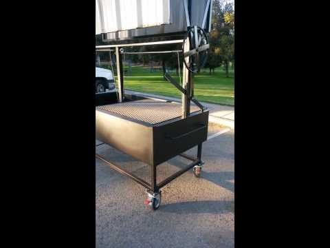 Santa Maria Bbq Grill Pit With Collapsible Roof Top Perfect For Catering Comercial Bbq And The Everyday Barbecuer Made By Jd Wood Grill Santa Maria Bbq Bbq