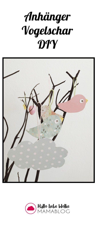 Einfache Anhänger: Vogel aus Papier   Buntes Papier ...