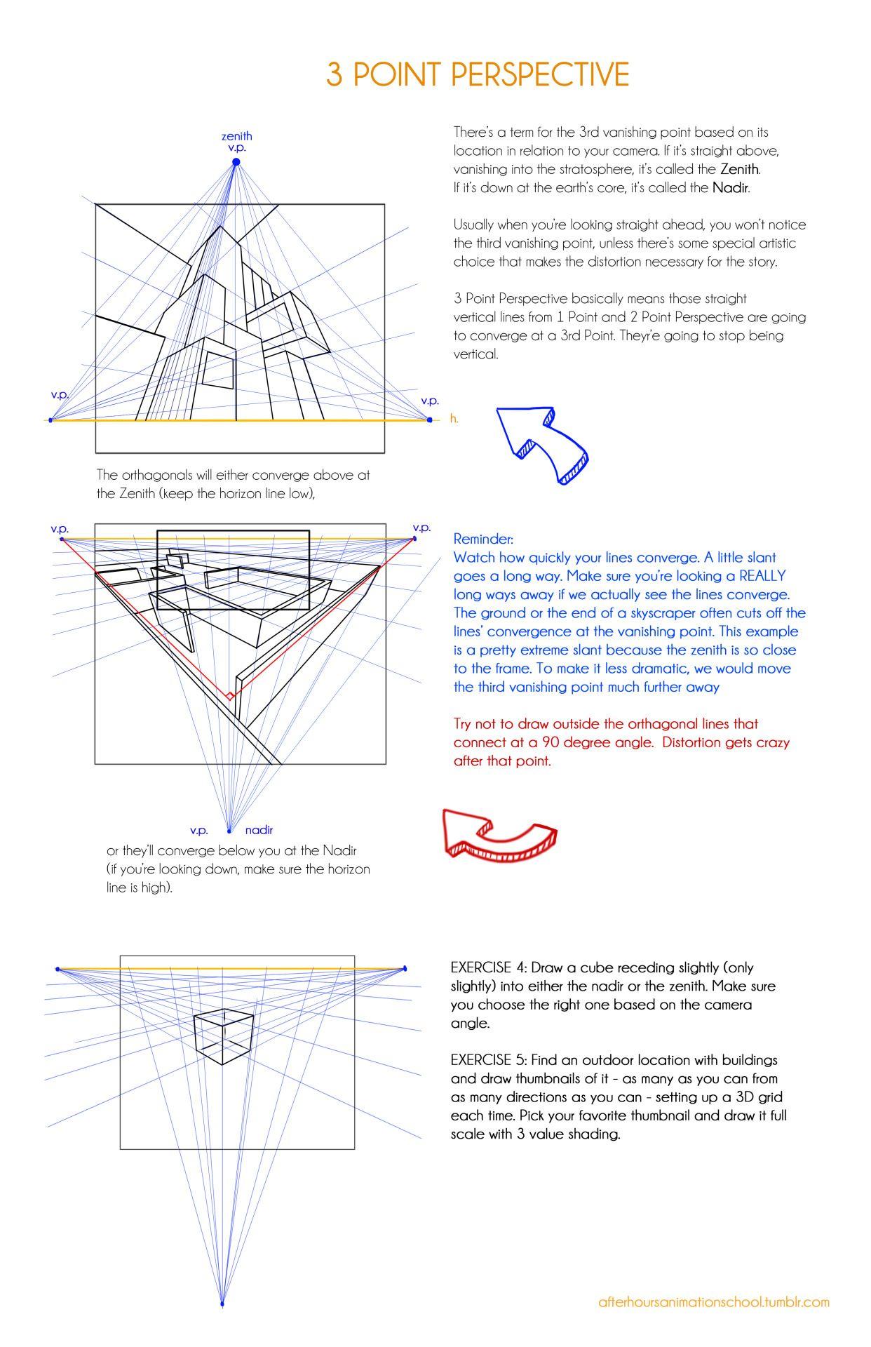 Afterhoursanimationschool 3 Point Perspective