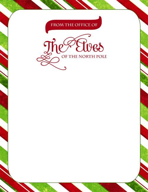 Free Download Official Elf Letterhead For Gregnog To Leave Notes - Holiday Templates For Word