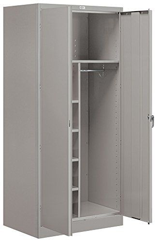 Salsbury Industries Assembled Combination Storage Cabinet 78 Inch High By 24 Inch Deep Gray