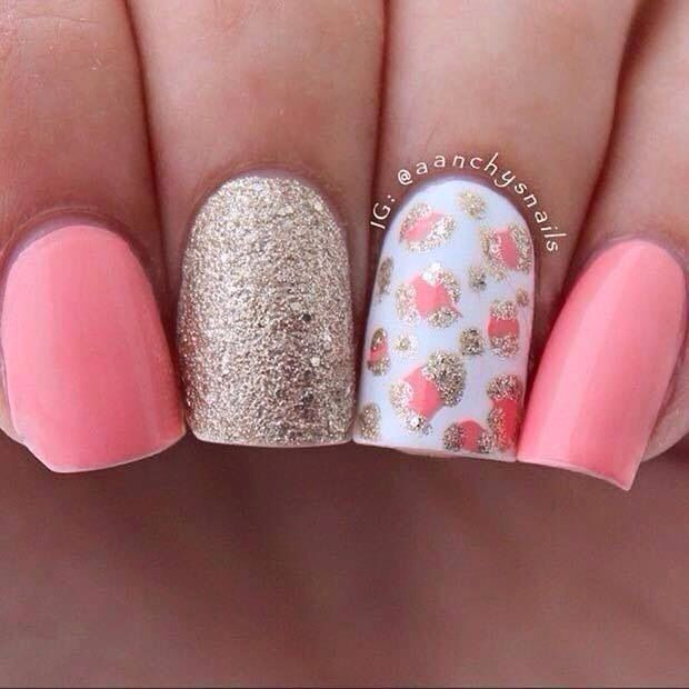 Orange Awesome Nails Pinterest - modelos de uas