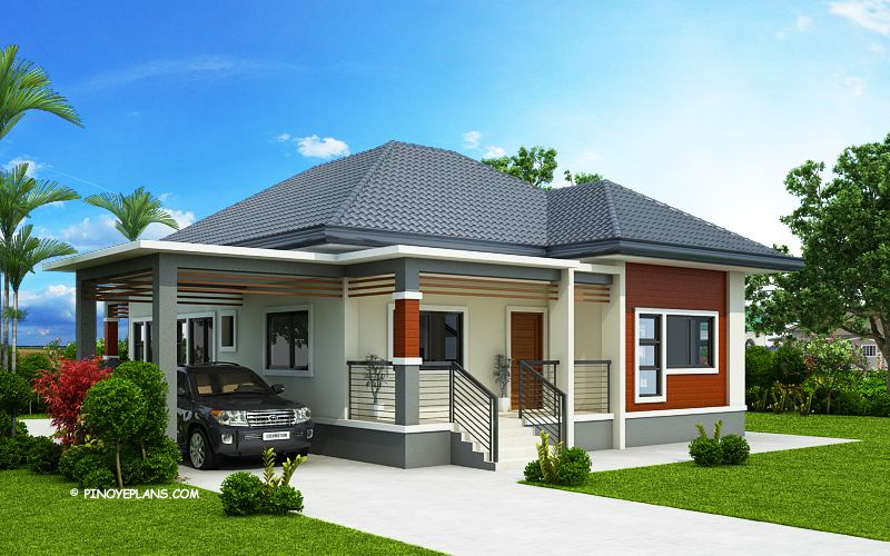Miranda Elevated 3 Bedroom With 2 Bathroom Modern House Pinoy Eplans Philippines House Design Modern Bungalow House Plans Beautiful House Plans