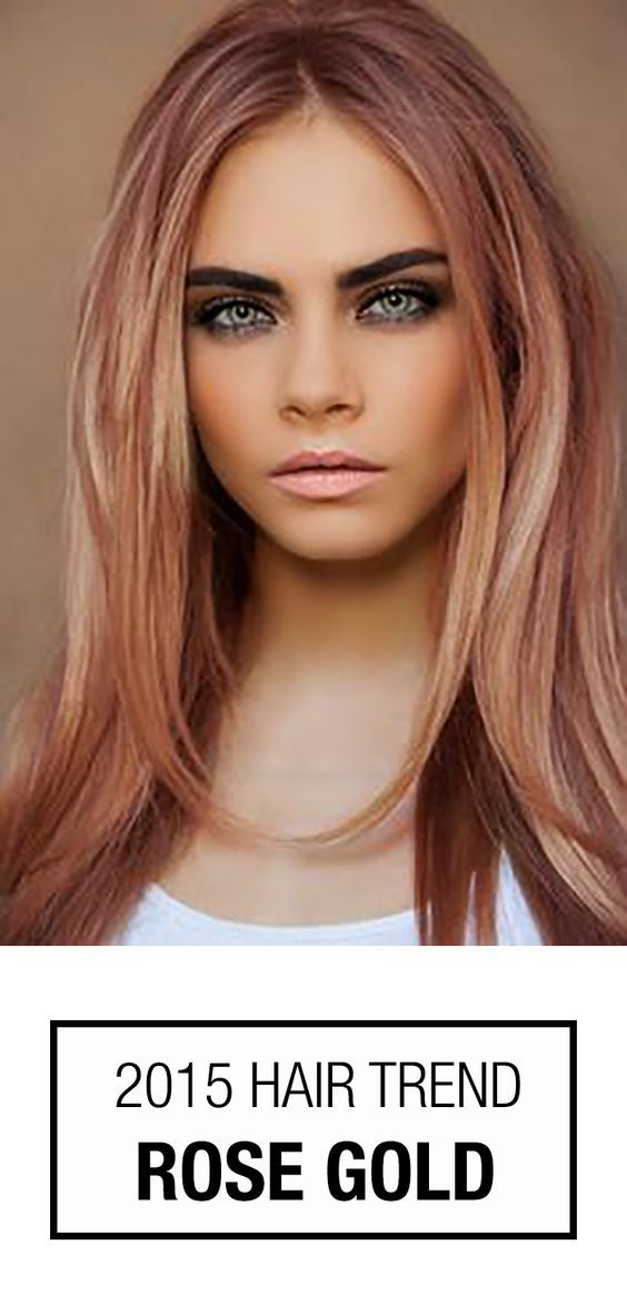 Rose Gold Hair Color This Hair Color Trend Isnt Just For Blondes