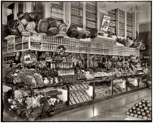 edward neumann grocery at broadway market circa 1910   Old shops   Vintage photos, Wallpaper ...