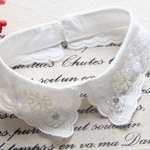 Chiffon Fake Collar Detachable Lapel Shirt Fake False Collar For Women Girls