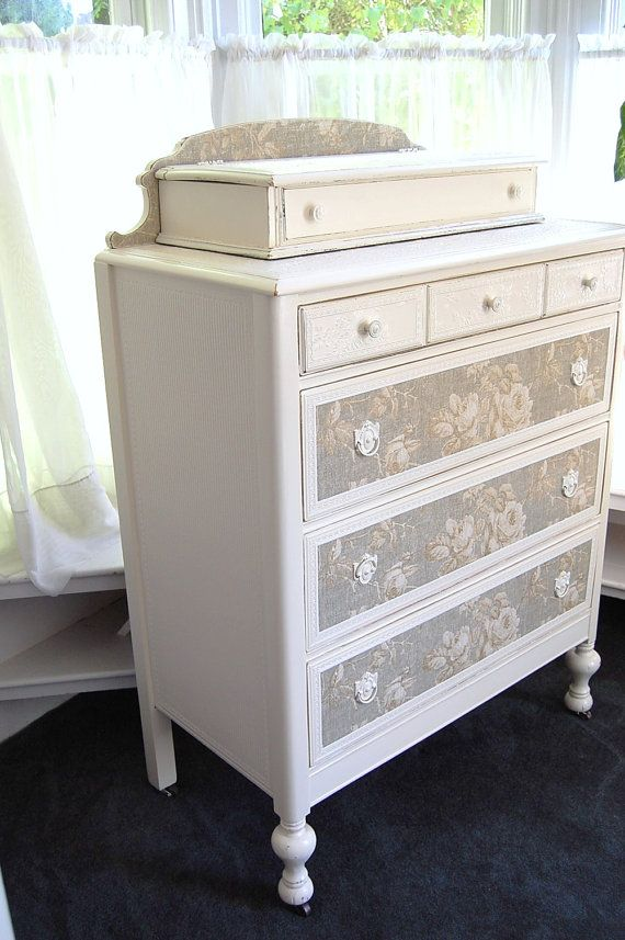 distressed chic dresser with roses and by daniscustomdesigns my very own diy. Black Bedroom Furniture Sets. Home Design Ideas