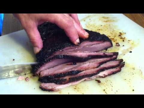 Smoked Brisket On A Masterbuilt Smoker The Slices Were So Juicy The
