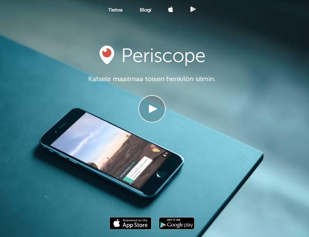 Periscope on Twitterin live-stream-video mobiilisovellus. Kun jaat Periscope-videolähetyksen, jaat sen koko Twitter-verkostollesi. Tavoitat kerralla satoja tai tuhansia ihmisiä. Tiesitkö, että voit...