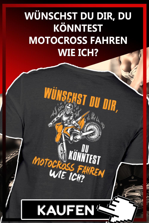 Motocross Wie Ich Motorrad Fahren Lustige Spruche Und Shirt