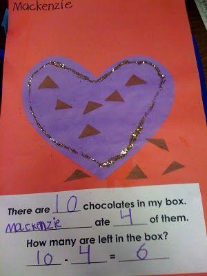 Valentine's Day chocolate heart box math