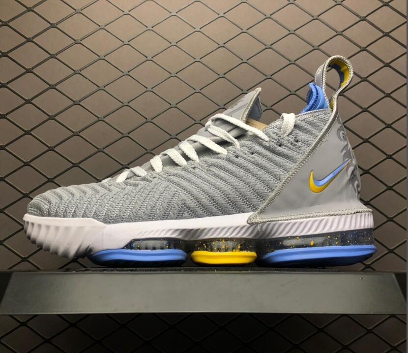 "new concept 032c8 be3da 2019 Nike LeBron 16 ""MPLS"" Wolf Grey/White-University Blue ..."