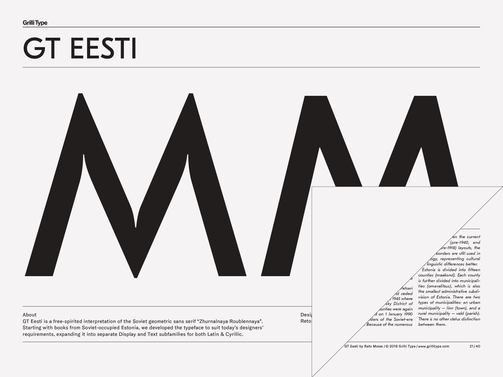 GT Eesti – Grilli Type – Independent Swiss Type Foundry