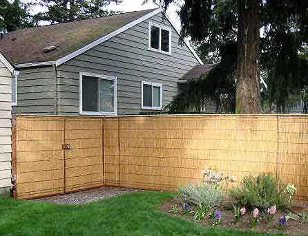 Reed Or Bamboo Over Chain Link Fence Doityourself Com Diy Home